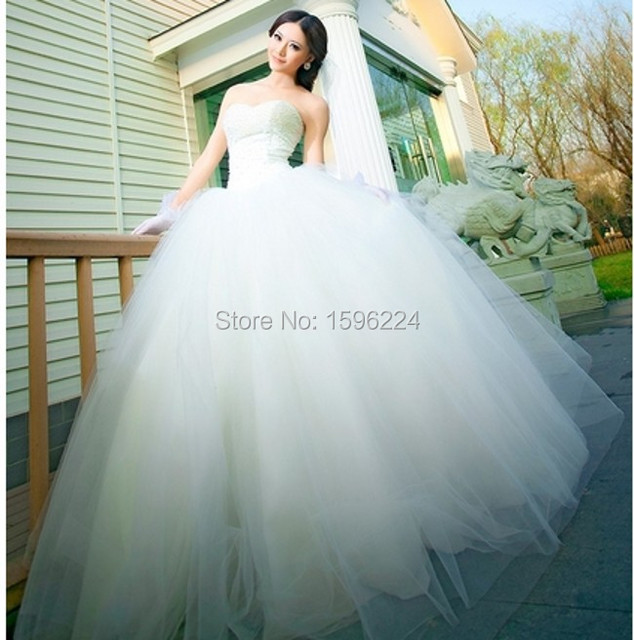 Charming Strapless Ball Gown Tull Pearls Kleinfeld Wedding Dresses ...