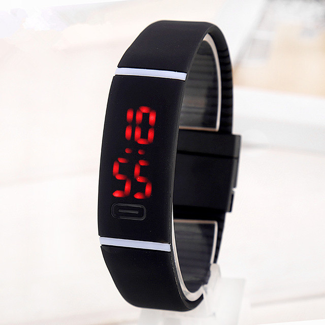 2017 Silicone LED kids Watches Date Bracelet Digital Sports Wristwatch for stude
