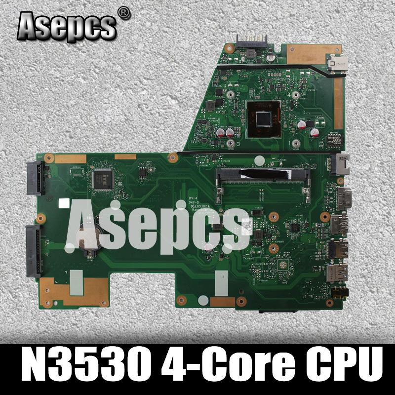 Asepcs N3530 4-Core CPU X551MA Laptop motherboard for ASUS X551MA X551M X551 F551MA D550M Test original mainboard