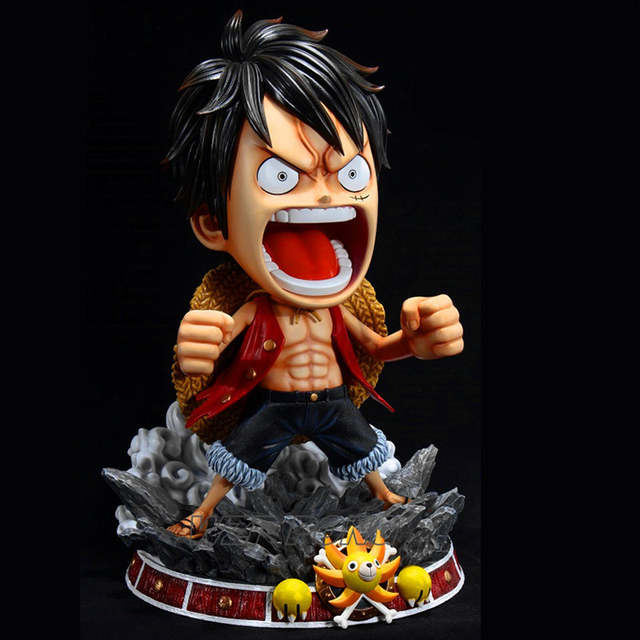 60cm One Piece Luffy Gear 3 Body Reduction Ver Statue Resin Collection Monkey D Luffy Full Length Action Figure Model Toys