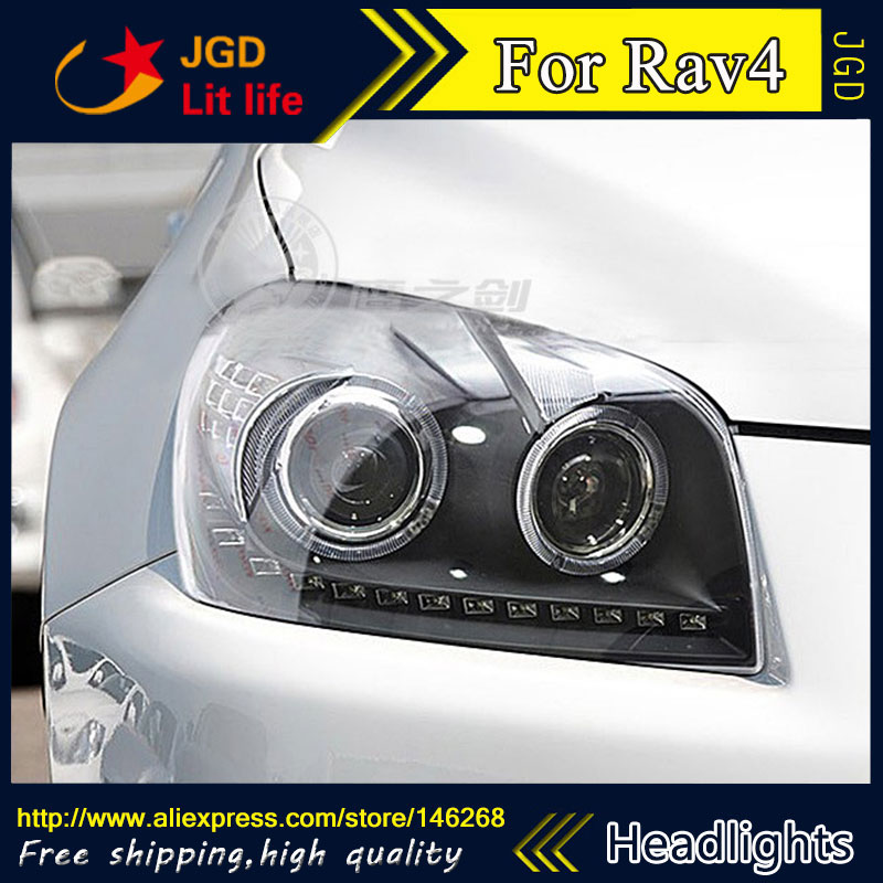 Free shipping ! Rio LED headlights headlamps HID Hernia lamp accessory products For Toyota RAV4 2009-2013 car accessories free shipping hid rio led headlights headlight headlamps hid hernia lamp accessory products for great wall haval h3 2005 2010