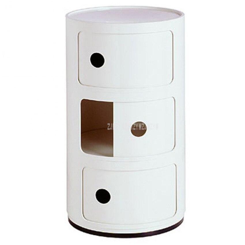 Minimalist 3 Layer Nightstands Nordic Modern ABS Living Room Bedroom Bedside Cabinet Simple Bedside Storage Cupboard Furniture