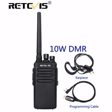 10 W Radio DMR Retevis RT81 Puissant Talkie Walkie IP67 Étanche UHF VOX Cryptage Longue Portée 2 Voies Hf Radio Chasse + USB câble