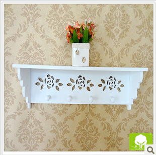 Farmhouse style wood wall shelf decor household creative key box - Home Decor - Photo 1