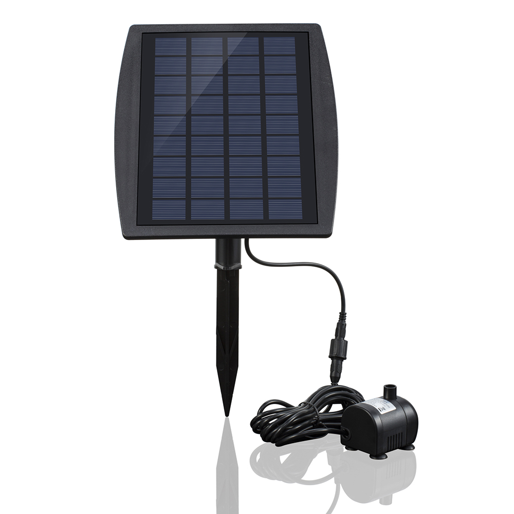 цена mini Solar Power Panel Landscape Pool Solar Pump Garden Fountains Pluggable Solar Power Decorative Fountain 9V 2.5W Water Pump