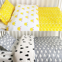 3pcs Kids Baby Bedding Set Pure Cotton Bed Sheet +Quilt Cover +Pillowcase Children Baby Crib Nursery Bedding Set