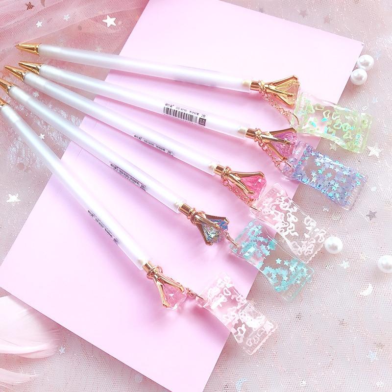 40 Pcs/1 Lot Kawaii Diamond Candy Mechanical Pencils School Office Supply Student Stationery Kids Wholesale Automatic Pencil