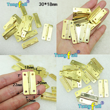 In Stock 30pcs 30*18mm furniture connectors 4 hole small wooden gift box hinge small wooden hinge(China (Mainland))