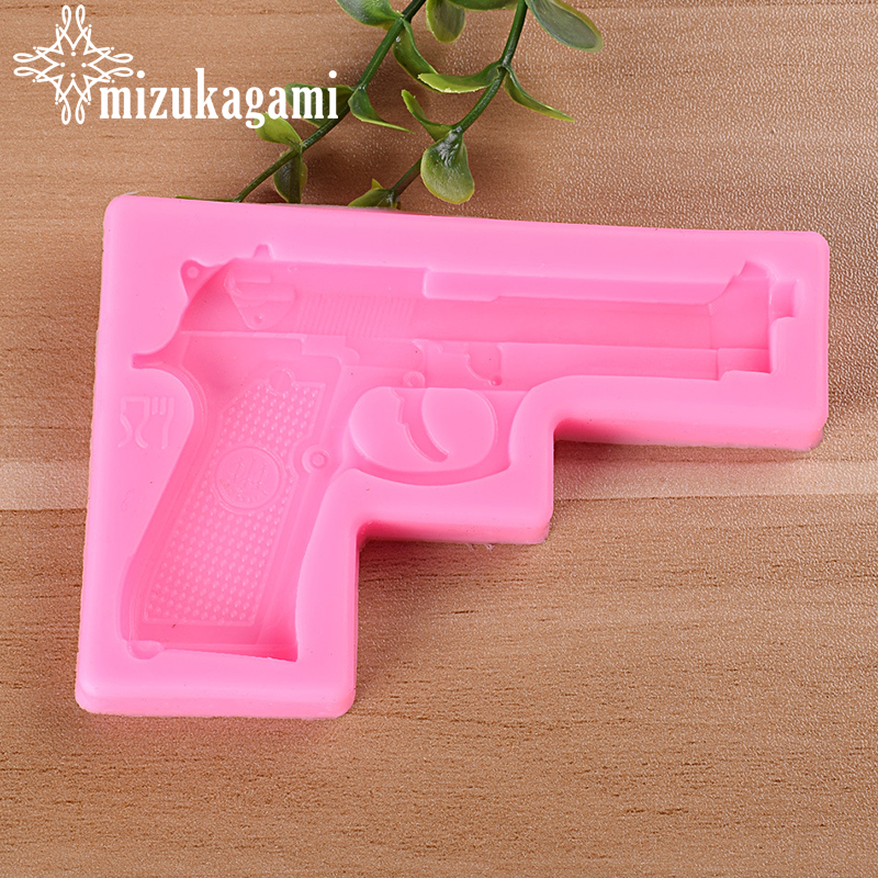 1pcs UV Resin Jewelry Liquid Silicone Mold Mini Pistol Resin Charm Molds For DIY Jelly Baking Tool Making Jewelry Accessory
