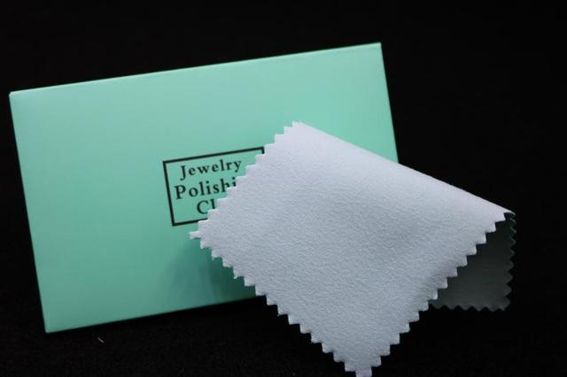 100pcs silver polish cleaning polishing cloth with package silver cleaning cloth wiping cloth of silver jewelry suede maintenanc