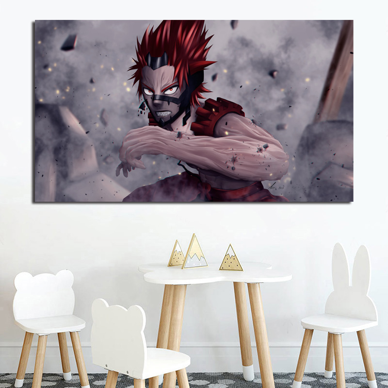 Eijiro Kirishima My Hero Academia Wall Art Canvas Posters Prints Painting Wall Pictures For Nursery Bedroom Home Decor Framework
