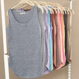 Image 2 - Gorące lato tank top fitness nowy T koszula Plus rozmiar luźny model damskiej podkoszulki bawełna O neck topy slim moda odzież damska