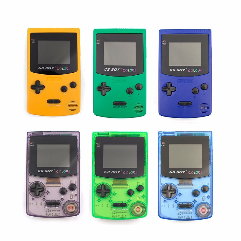 GB Boy Colour Color Handheld Game Consoles Game Player With Backlit 66 built-in Games Yellow Blue Purple Green