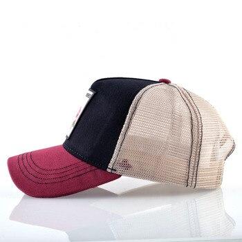 Breathable Baseball Cap Women Spring Summer Mesh Snapback Trucker Hat For Men Flower Embroidery Hip Hop Bone Gorras Visor Hats 2