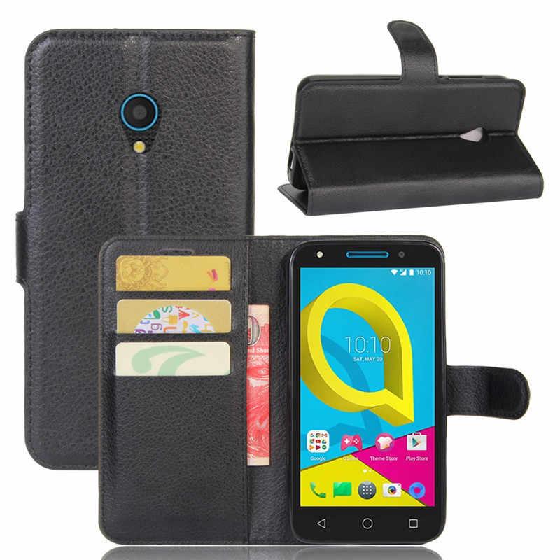 Pour Alcatel U5 4G étui 5.0 pouces portefeuille en cuir PU couverture arrière téléphone étui pour Alcatel U5 4G U 5 5044 5044D 5044Y sac à rabat