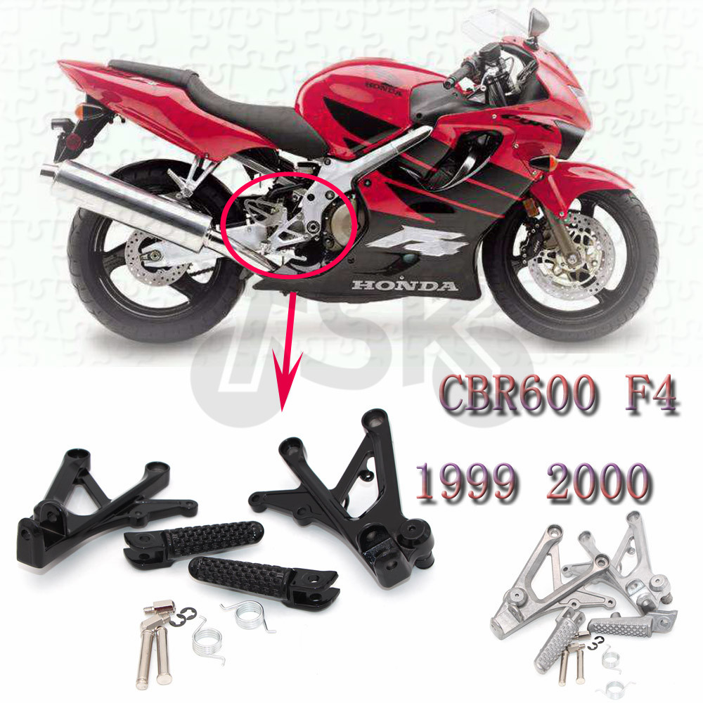 Front Footrest Foot Pegs For Honda CBR600 CBR 600 F4 1999 2000 Parts Foot peg New