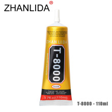 ZHANLIDA T-8000 110ml Clear Glue Epoxy Resin for Glass Flower Pot Crystal Fabric DIY Rhinestones Adhesive T8000 Glue Gun