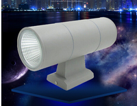 4pcs Outdoor waterproof led wall lamp double head cob wall lamp UP and down AC85 265V IP65 led Garden Yard Landscape light 20w