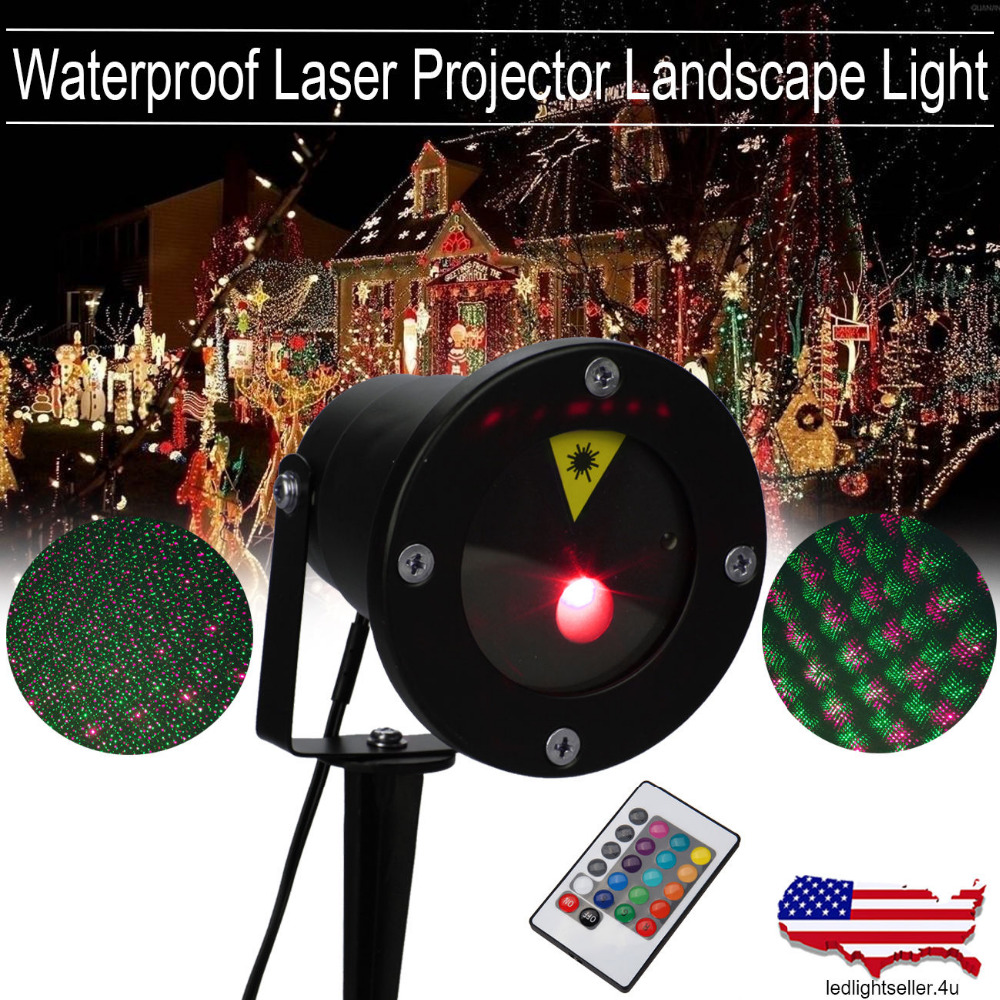 Red Green Laser Projector Landscape Light Firefly LED Outdoor Garden Lawn Xmas Waterproof Christmas Stage  LED Laser lamp laser head owx8060 owy8075 onp8170