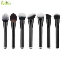 High Quality Goat Hair 7pcs Pro Big Makeup Brushes Set Pinceis Kabuki Naked Face Contour Powder Foundation Brush Cosemtic Tool