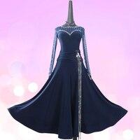 New ballroom dance dress standard ballroom waltz dresses ballroom dance competition dresses custom made any size LXT564
