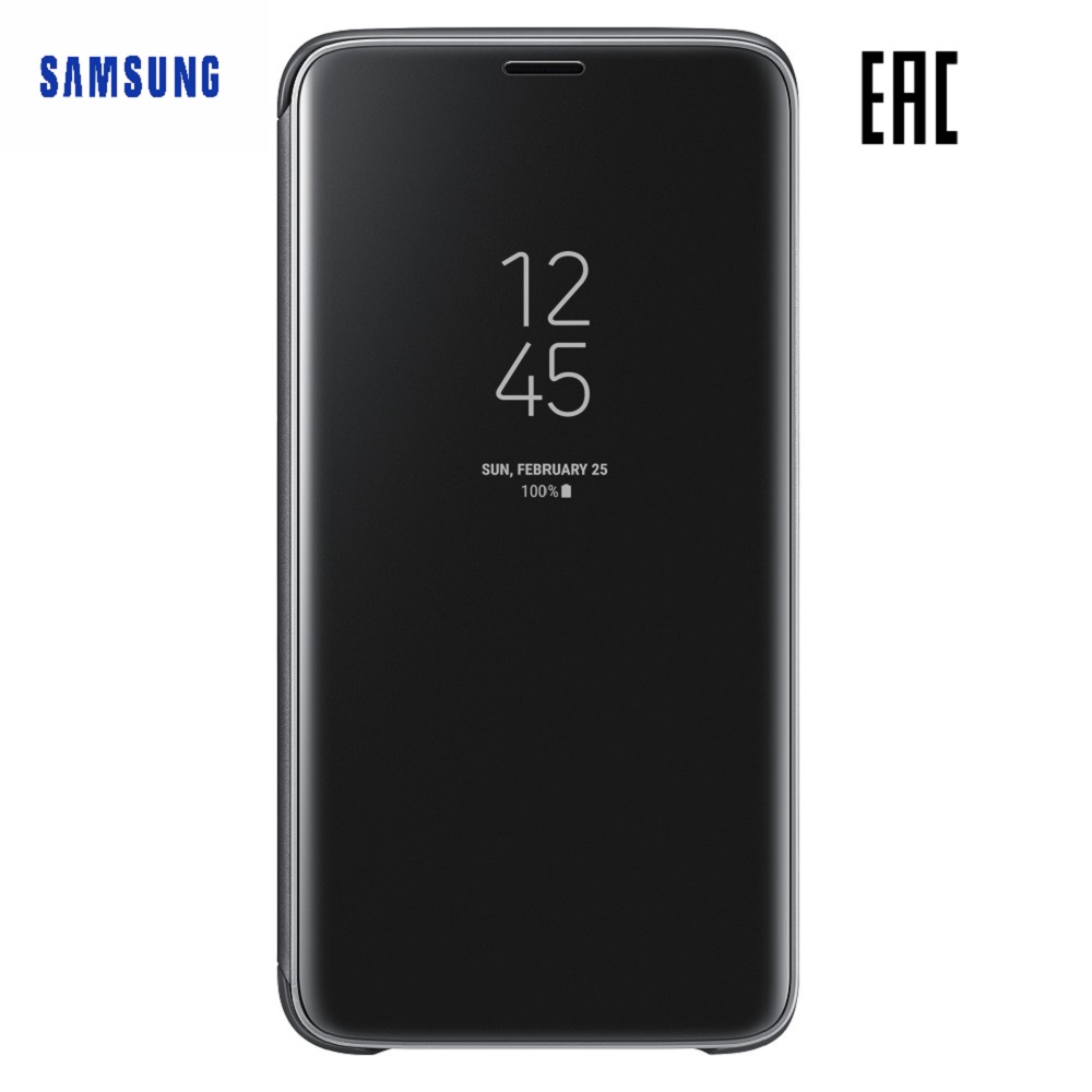 Case for Samsung Clear View Standing Cover Galaxy S9 EF-ZG960C Phones Telecommunications Mobile Phone Accessories mi_10000055345