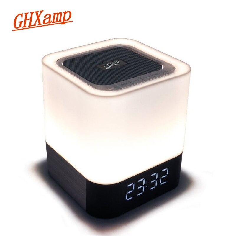 GHXAMP LED HD Bluetooth Audio Night Light Subwoofer Wireless Bluetooth Speaker Audio loudspeaker Portable Smart Alarm Clock 1pc xoopar xg21013 wireless bluetooth speaker personalized mini portable small smart phone audio subwoofer