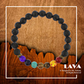 2017 homens pulseira de lava preta equilíbrio beads reiki cura buda oração pedra natural yoga moda jóias acessórios para mulheres
