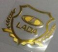 Автомобиля в сторону окна, тонкие металлические декоративные наклейки костюм для LADA Largus Granta Kalina багажнике автомобиля или тела стиль эмблема 2 Шт./лот
