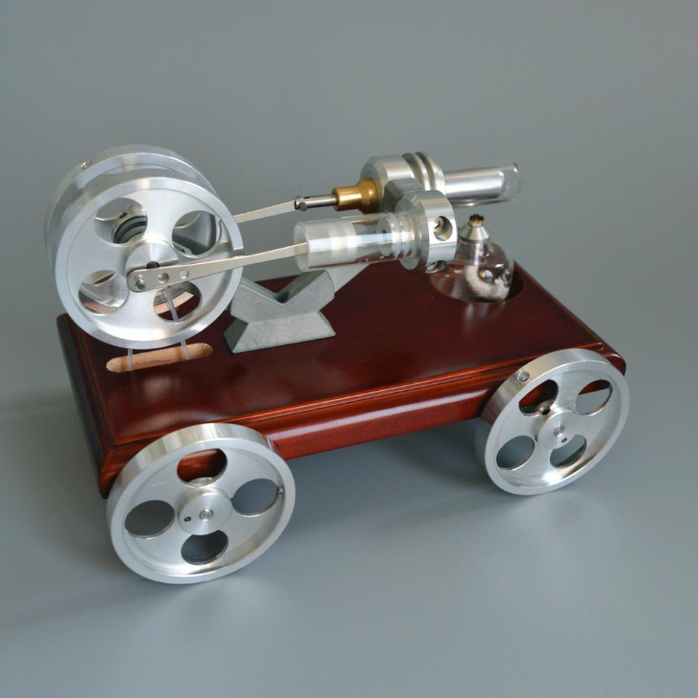 QX-XC-01 Stirling Engine Model Car with 4 steel wheels Mini Car Toy small scientific experiments qx fd 03 stirling engine model mini
