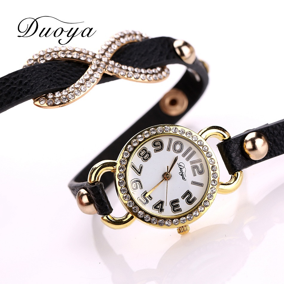 Women Watches relogio feminino   Luxury Brand   Quartz Leather Rhinestone Bracelet Montre-Bracelet Gold Wrist Reloje2018