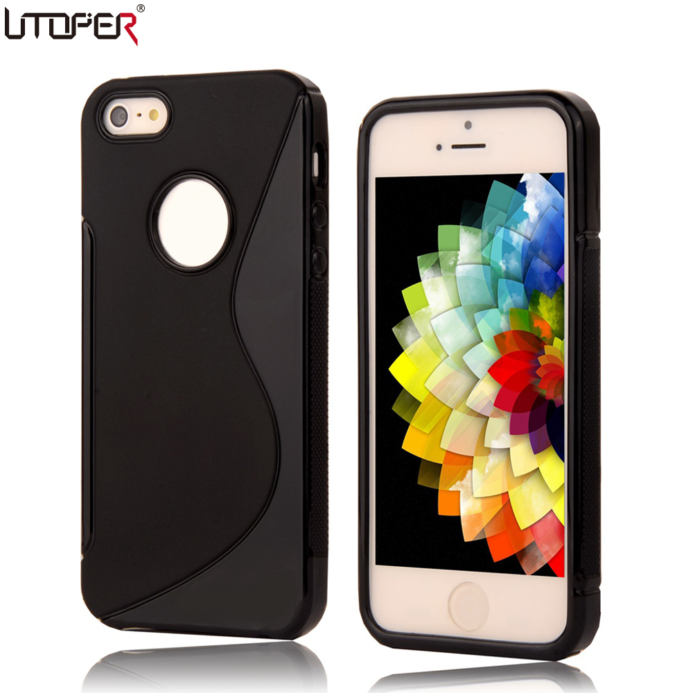 Soft Plastic Case For iPhone 5 Case S LINE Anti Skid Coque For Apple iPhone 5S Case ip
