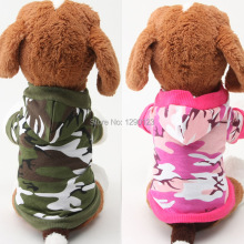 Small Pet Puppy Dog Cat Cotton Camo Clothes Clothing Hoodie Apparel Puppy Dog Camouflage Coat Sweater Jumpsuit Free Shipping