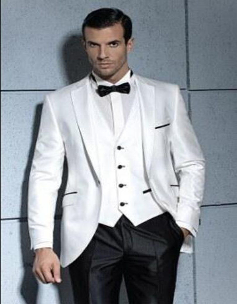 Silver And Black Prom Suit - Go Suits