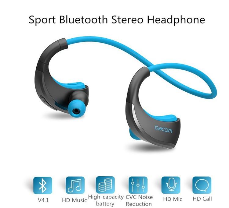 Dacom Armor Bluetooth V4.1 Stereo Headphones IPX5 Waterproof Wireless Outdoor Sports Headset Handsfree Music Earphone With Mic(5)