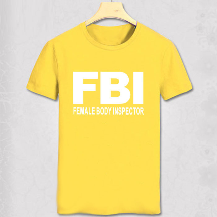FBI T Shirt USA Funny T shirt Obama Geek Tshirt Fashion Men Short ...