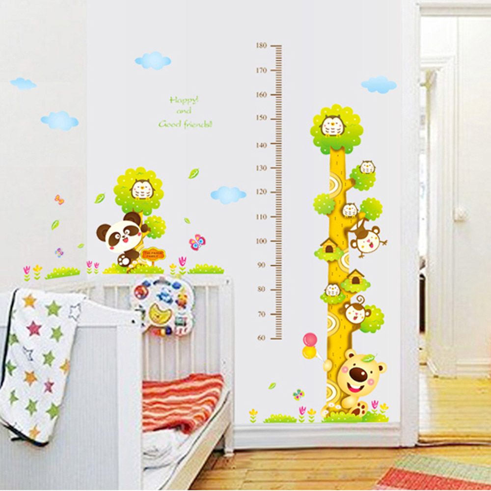 Online Shop Height Stickers Muraux Monkey Cartoon Tree Wall Sticker Baby  Room Nursery Vinyls Wall Sticker Kids Adhesivos Pared | Aliexpress Mobile Part 78