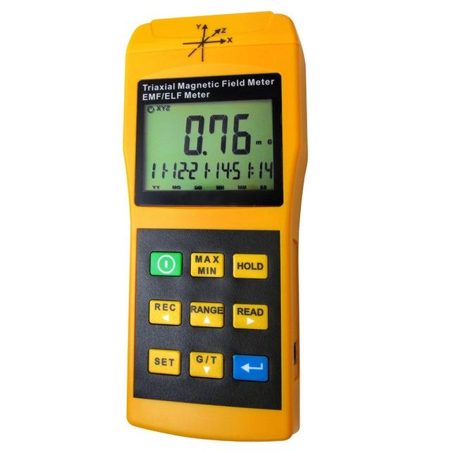 bd770fbe5d6 Tri-Axis Sensor Digital Gaussmeter EMF ELF Electro Campo Magnético Gauss  Medidor Auto Manual 2000