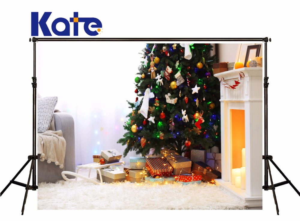 Kate Christmas Backdrop Photography Christmas Tree Toys Photographie Background Warmth Indoor Photo Backdrops for Photo Studio kate photo background scenery