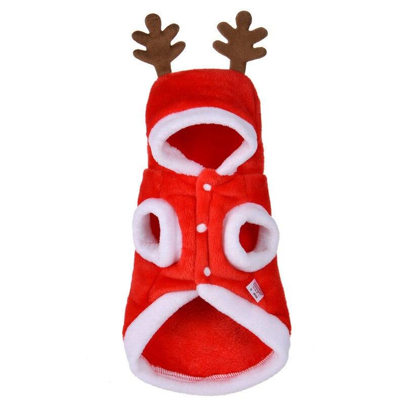 Зимние Рождество собака одежда Пальто для будущих мам красный костюм Санта Толстовки щенок Костюмы для небольших интимным собака suppliy 15