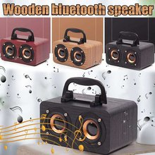 10W Wooden Wireless bluetooth Portable Speakers Subwoofer Stereo Bass System bluetooth Speaker TF USB MP3 Player Home Amplifier(China)