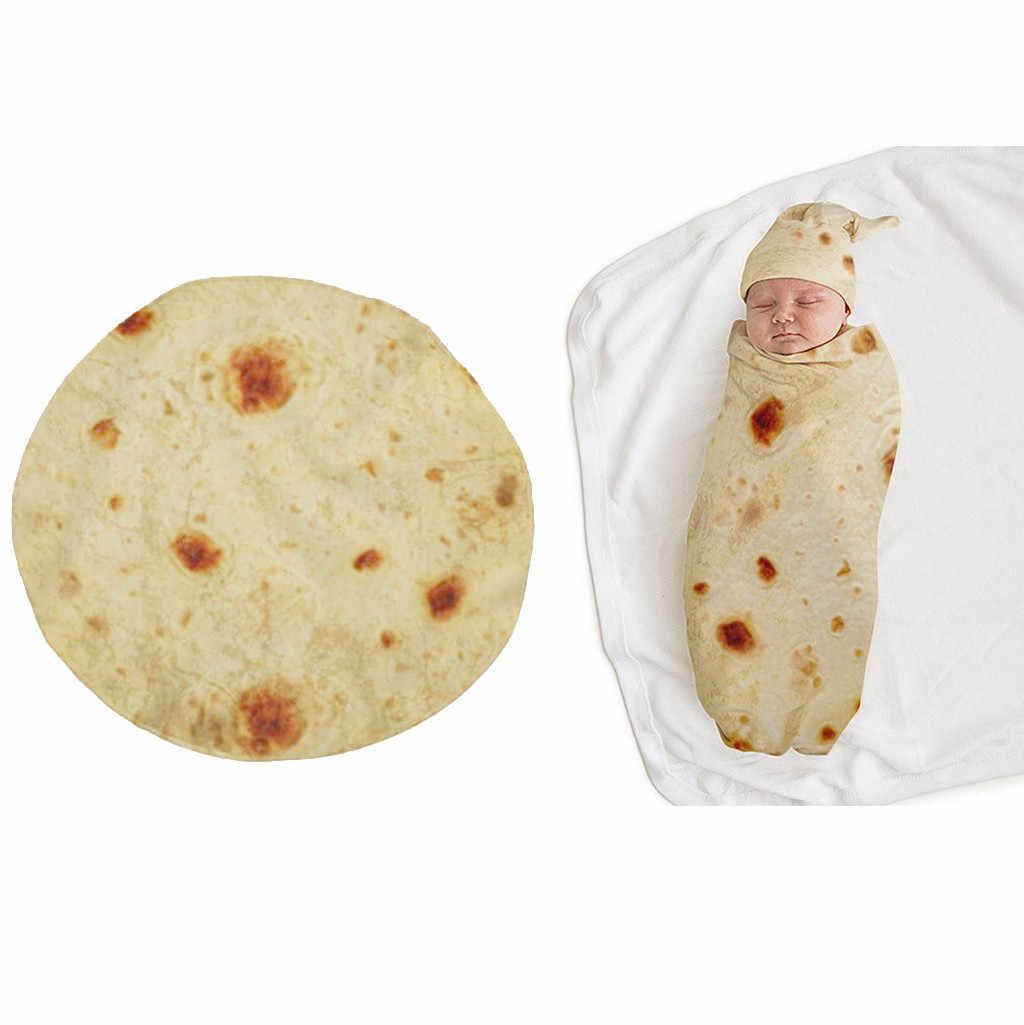 คุณภาพสูง Burrito ผ้าห่มเด็กแป้ง Tortilla Swaddle ผ้าห่ม Swaddle Wrap หมวก 8.4gg