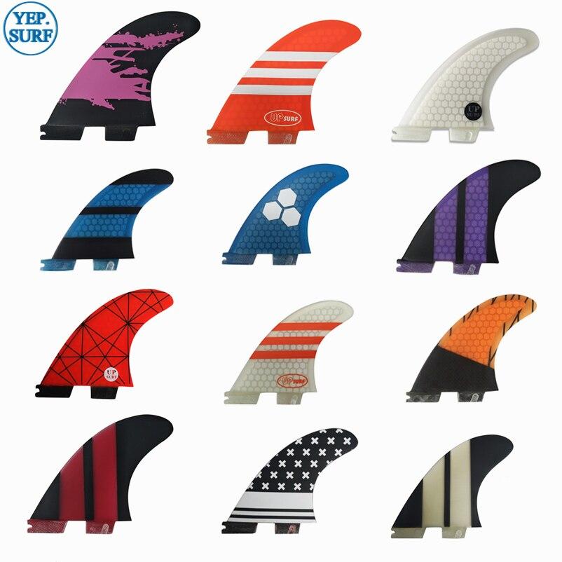 Surf Tri Fin Set FCS2 G5/G7/K2.1 FCS Ii G5/G7/K2.1 Surfing Fins For Surfboard Sup Board Fiberglass Honeycomb