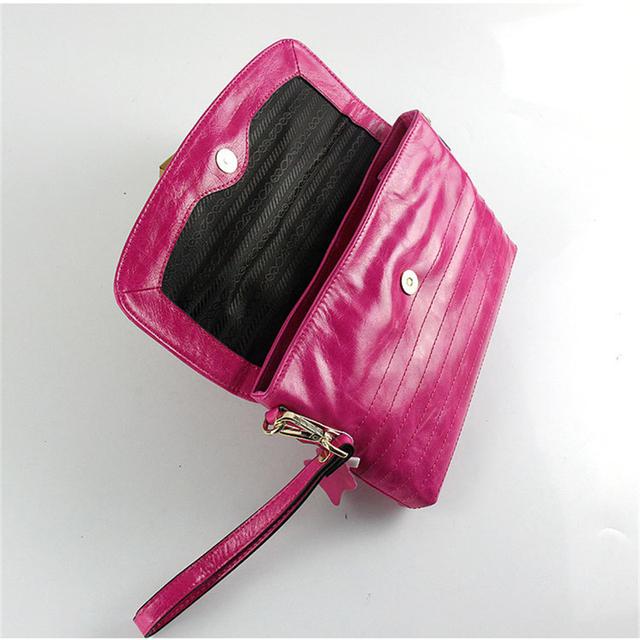 2016 ISHARES New arrival genuine leather women handbags ladies' brand design  wax paper clutch  handbag  shoulder bags IS8001