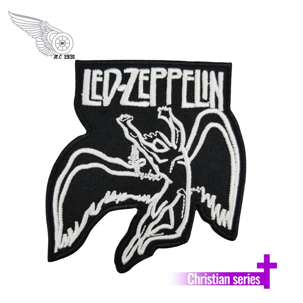 mc1931 Brand High Quality UK Led Zeppelin Embroidery Patch Songs Music t Shirts Symbols Patch DIY Accessory Applique Patch image