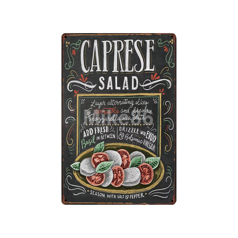 WellCraft Salad Cookies Pie Cocktail Metal Signs Wall Plaque Decor for Bar Pub Hotel Iron Painting LT 1759 in Plaques Signs from Home Garden