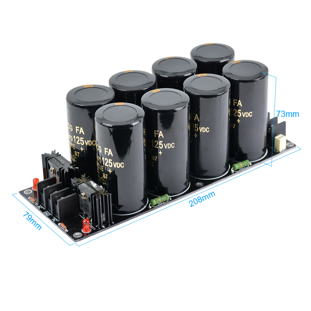 Image 5 - AIYIMA 120A Amplifier Rectifier Filter Supply Power Board High Power Schottky Rectifier Filter Power Supply Board 10000uf 125V-in Amplifier from Consumer Electronics