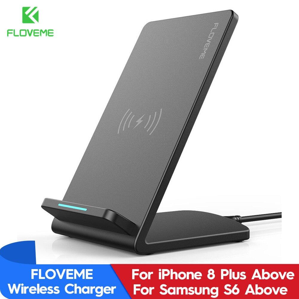 QI Caricabatterie Wireless Per Il Samsung Galaxy S9 S8 Più Nota 9 8 Caricatore Senza Fili Del Telefono di Ricarica Veloce Per il iphone XS max XR XS X 8 Più