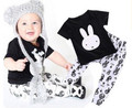 JY-119  2017 Toddler Kids Baby Clothing for babyboy Print Bunny T-shirt Top pants Baby Boys Clothing Set Nice Costume Clothing