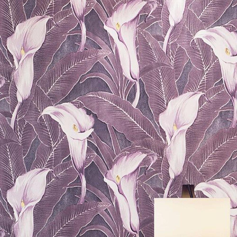 beibehang 3D Stereo Relief Deerkin Nonwoven Fabric Wallpaper Tulip Lily Flower Bedroom Living Room Background